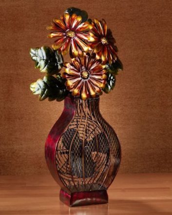 Funky Flower Vase Shaped Fan