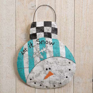 Snowman Disc Christmas Ornament