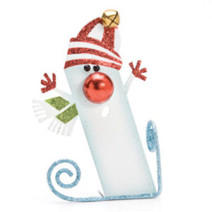 Skater Snowman Christmas Ornament