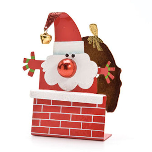 Chimney Santa Christmas Ornament