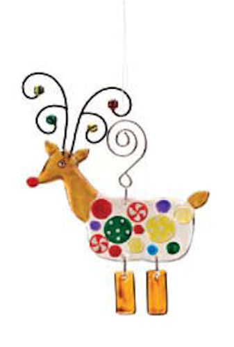 Candy Reindeer Christmas Ornament