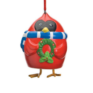 Cardinal Bell Christmas Ornament