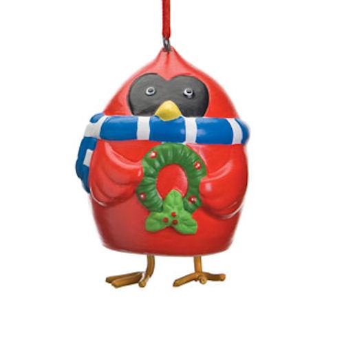 Cardinal Bell Christmas Ornament