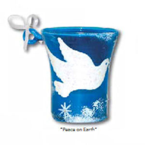Peace on Earth Mini-Candle Ornament