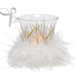 Tinsel Mini-Candle Ornament