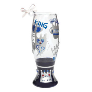 King Mini-Beer Glass Christmas Ornament