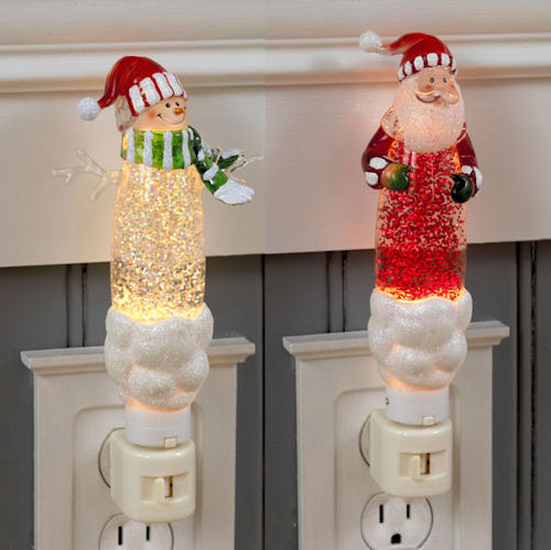 Santa and Snowman Nightlight
