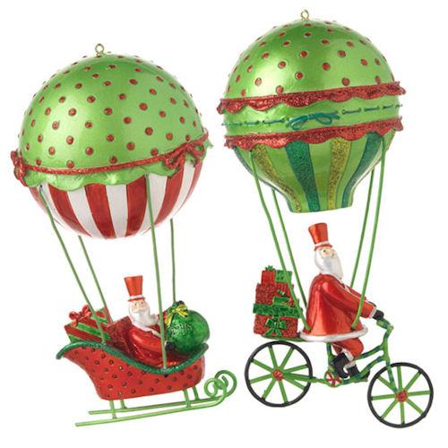Balloon Santa Ornaments