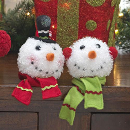 Large Snowmen Head Christmas Ornaments 1