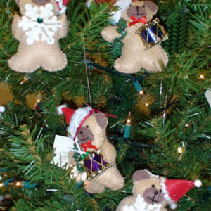 Teddie Bear Christmas Ornament