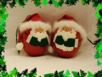 Handmade Jolly Santa Egg Christmas Ornament