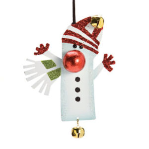 Hugging Snowman Christmas Ornament