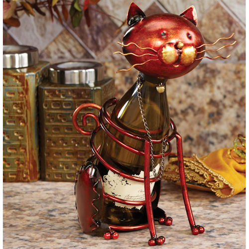 Figurine Cat Bottle Holder
