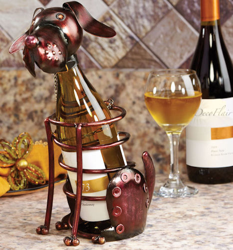 Figurine Dog Bottle Holder