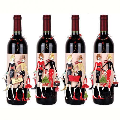 A-Liist Friends Wine Bottle Ornament