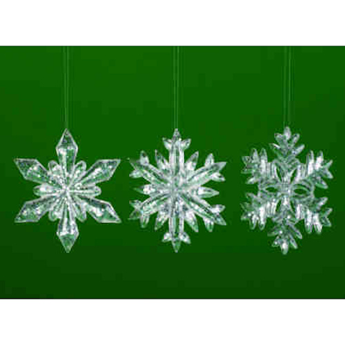 Acrylic Snowflake Ornaments