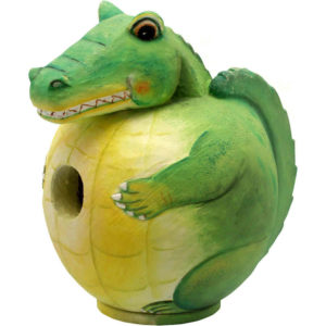 Alligator Shaped Birdhouse