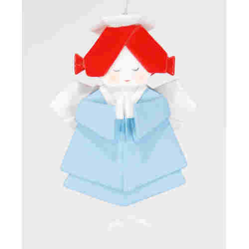 Angel Origami Christmas Ornament