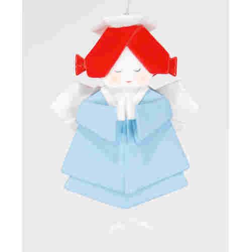 angel origami christmas ornament happy holidayware