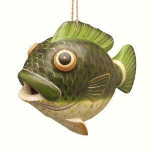bass fish birdhouse