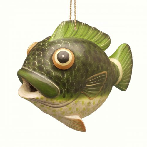 bass fish birdhouse