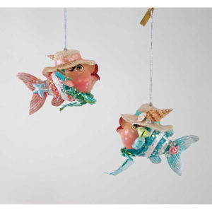 Beach Kissing Fish Ornaments