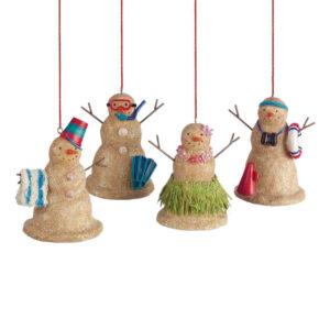Beach Sand Snowman Ornaments