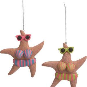 Beachy Starfish Ornaments