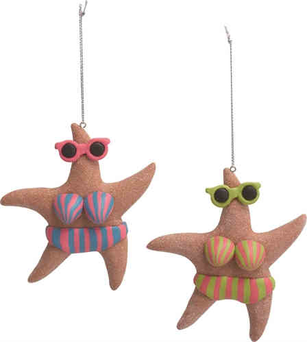 Beachy Starfish Ornaments