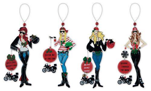 Biker Girls Ornament