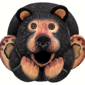 Black Bear Gourd Shaped Birdhouse