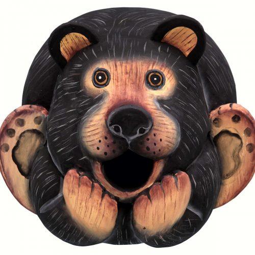 Black Bear Gourd Shaped Birdhouse