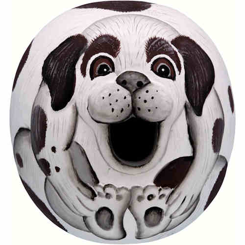 Black & White Doggie Shaped Birdhouse