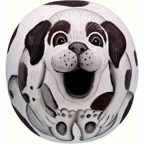 Black & White Doggie Shaped Birdhouse
