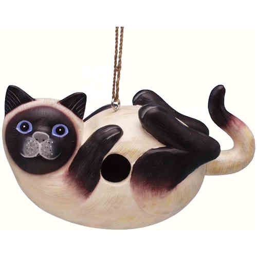 Black legged cat Birdhouse