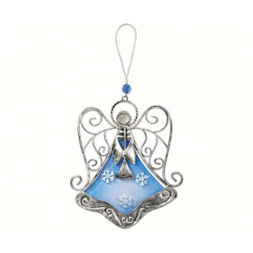 Blue Christmas Angel Ornament