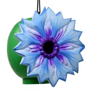 Blue Cornflower Shaped Birdhouse