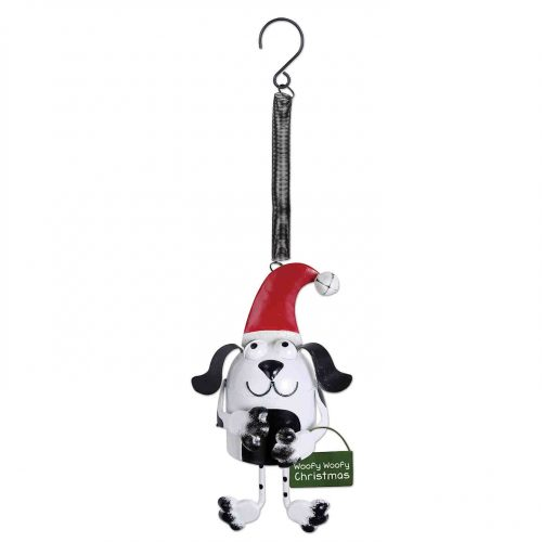 Bouncy Christmas Dog Ornament