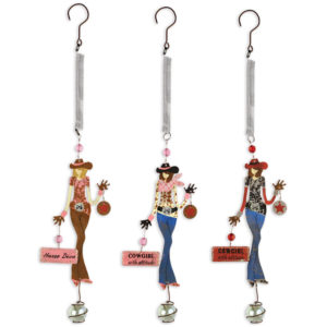 Bouncy Cowgirl Ornaments