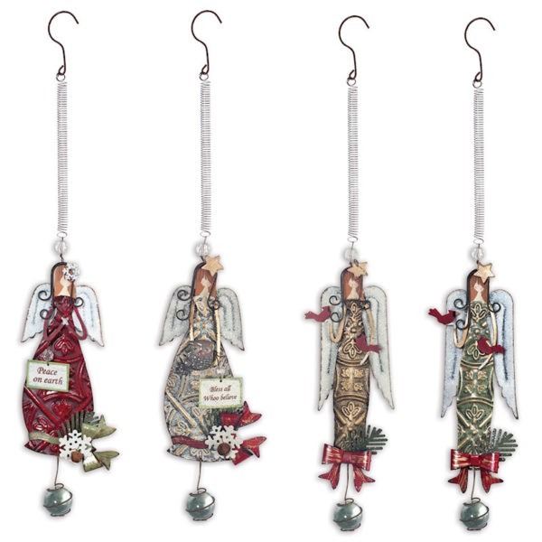 Bouncy Holiday Angel Ornaments