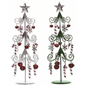Candy Cane Metal Christmas Trees