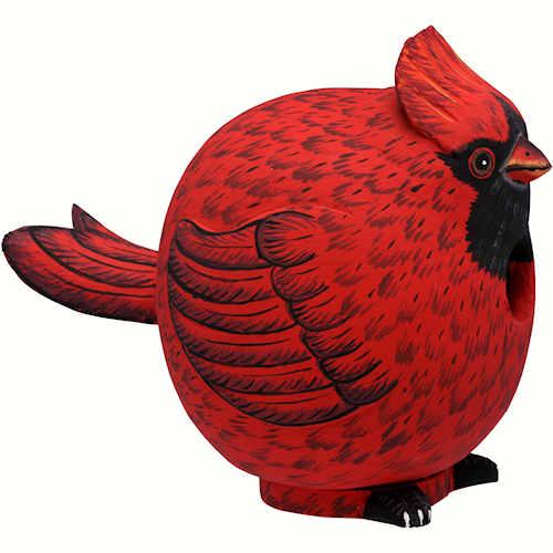 Cardinal Gourd Shaped Birdhouse