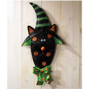 Cat Halloween Door Decoration