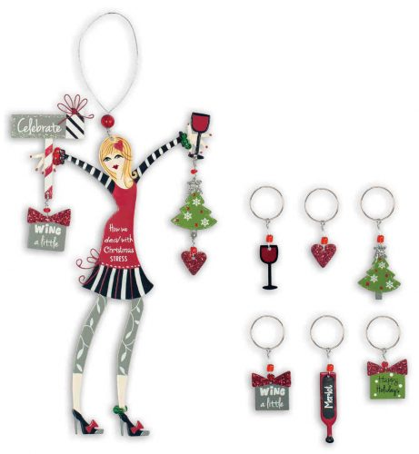 Celebrate Friend Ornament and Wine Charms
