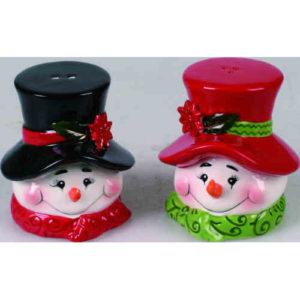 Ceramic Snowmen Salt & Pepper Shakers