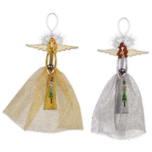 Gold or Silver Charming Angel Ornaments