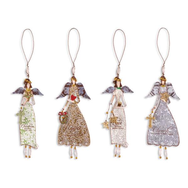 Cherish Christmas Angel Ornaments