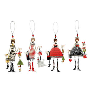 Chic Best Friend Christmas Ornaments