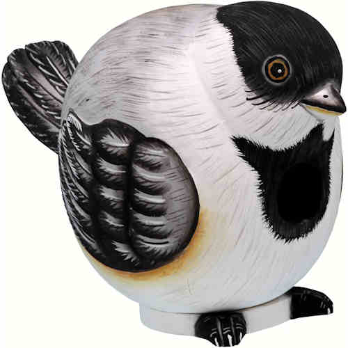 Chickadee Shaped Birdhouse