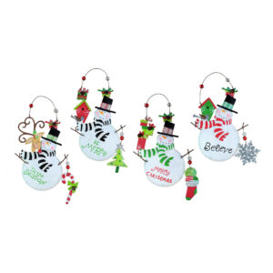 Christmas Holiday Cheer Snowmen Ornaments